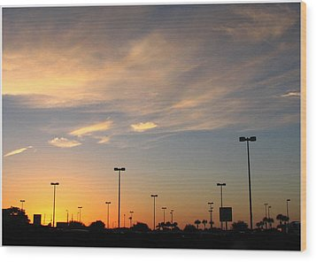 Wood Print featuring the photograph Silent Lights by Bill Lucas