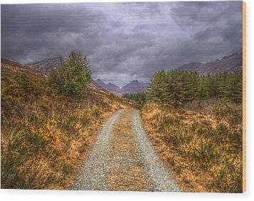 Silent Valley Road Wood Print by Matthew Green