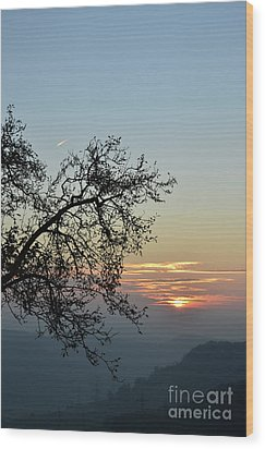 Wood Print featuring the photograph Silhouette At Sunset by Bruno Santoro