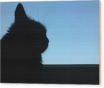Silhouette Wood Print by Lucy D