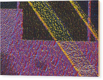 Silicon Solar Cell Wood Print by Michael Abbey and Photo Researchers