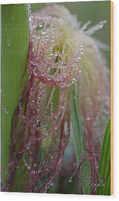 Silk And Pearls Wood Print by Susan Capuano