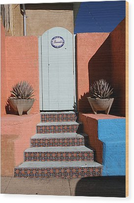 Silver City Doorway Wood Print by FeVa  Fotos