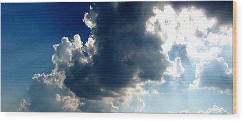 Silver Lining II Wood Print by Dee Fabian