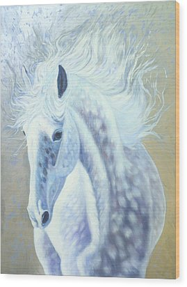 Silver Mare Wood Print by Gill Bustamante