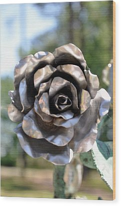 Wood Print featuring the photograph Silver Rose by Helen Haw