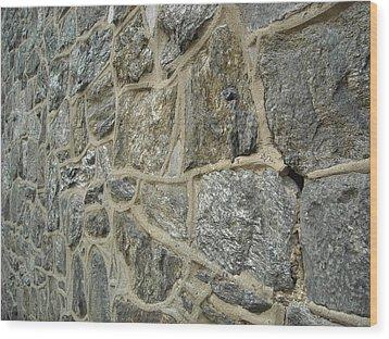 Silver Stone Wood Print