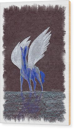 Silver Wings Wood Print by Mark Schutter
