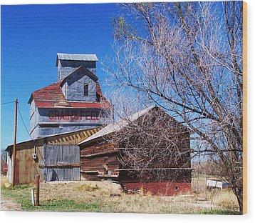 Wood Print featuring the photograph Simla Grain And Feed by Clarice  Lakota