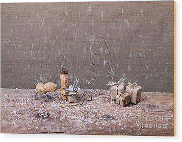 Simple Things - Christmas 07 Wood Print by Nailia Schwarz