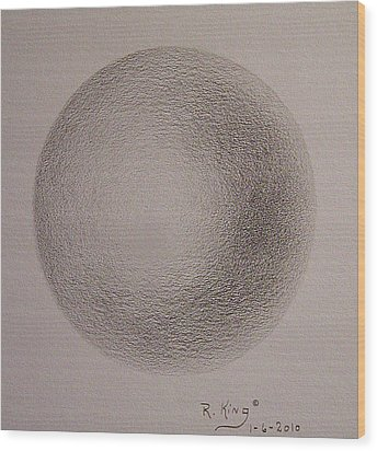 Wood Print featuring the drawing Simply A Ball by Roena King