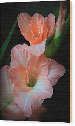 Simply Glad Wood Print by Karen Wiles