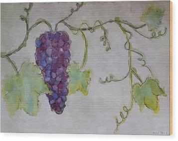 Simply Grape Wood Print by Heidi Smith