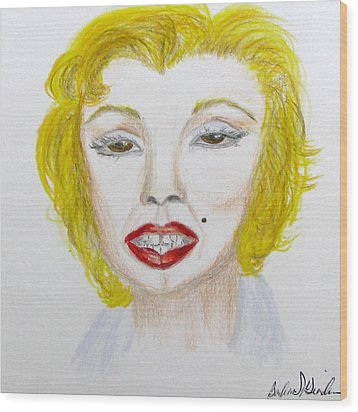 Simply Marilyn Wood Print