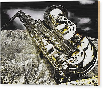 Wood Print featuring the photograph Simply Sax by Jason Abando