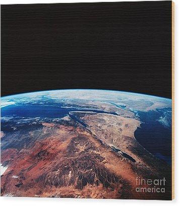 Sinai Peninsula Wood Print by Nasa