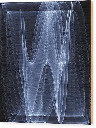 Sine Waves Wood Print by Pasieka