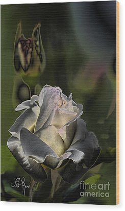 Sinful Rose Wood Print by Leo Symon