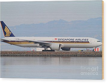 Singapore Airlines Jet Airplane At San Francisco International Airport Sfo . 7d12145 Wood Print by Wingsdomain Art and Photography