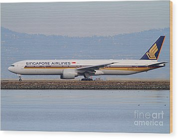Singapore Airlines Jet Airplane At San Francisco International Airport Sfo . 7d12163 Wood Print by Wingsdomain Art and Photography