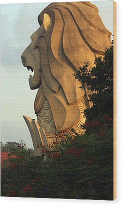 Singapore Merlion Wood Print