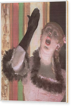 Singer With A Glove Wood Print by Edgar Degas