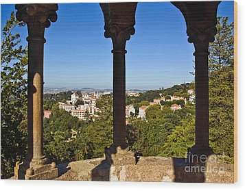 Sintra Balcony Wood Print by Carlos Caetano