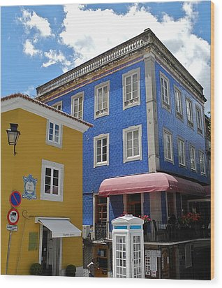 Sintra Portugal Buildings Wood Print by Kirsten Giving