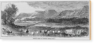 Sioux War: Tongue River Wood Print by Granger