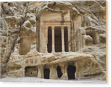 Siq Al-barid (little Petra), Jordan Wood Print by Marco Brivio