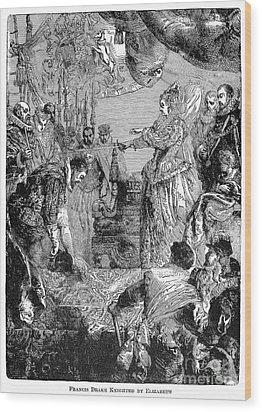 Sir Francis Drake (1540-1596) Wood Print by Granger