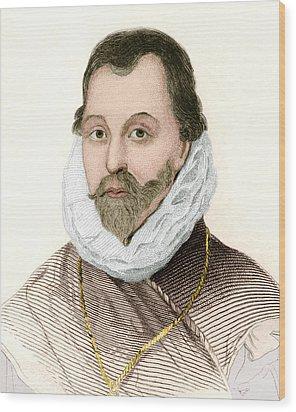 Sir Francis Drake, English Explorer Wood Print by Sheila Terry