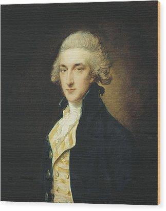 Sir John Edward Swinburne Wood Print by Thomas Gainsborough
