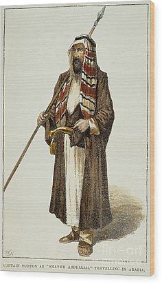 Sir Richard Francis Burton Wood Print by Granger