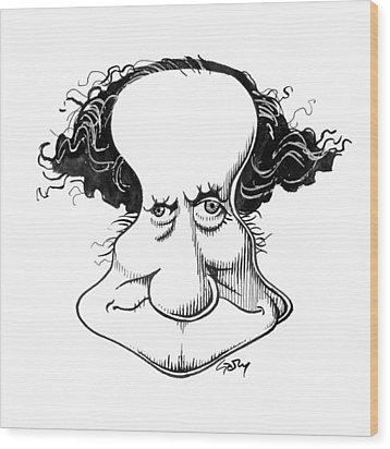 Sir Richard Owen, Caricature Wood Print by Gary Brown