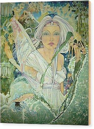 Sister Angel Wood Print by Jackie Rock
