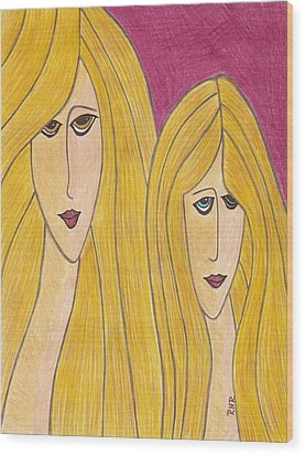 Sisters Wood Print by Ray Ratzlaff