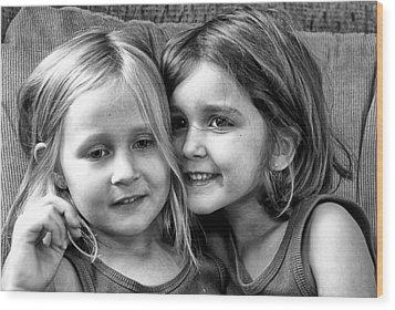 Sisters Wood Print by Robert Toth