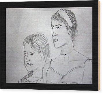 Sisters Wood Print by Suneel Jain