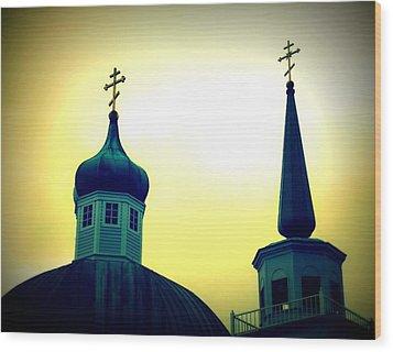 Sitka Russian Orthodox 9 Wood Print by Randall Weidner