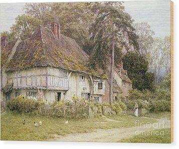 Six Bells Hollingbourne Kent  Wood Print by Helen Allingham