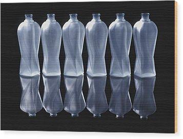 Six Glass Bottles Wood Print by David Chapman
