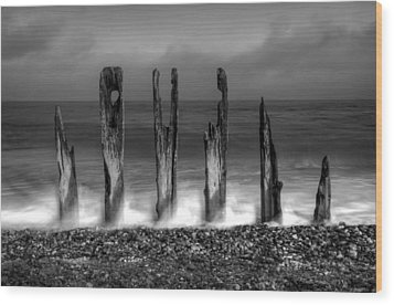 Six Sticks Wood Print by Mark Leader