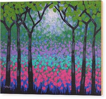 Six Trees Wood Print by John  Nolan