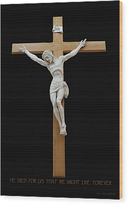 Sjncc Crucifix 1 Two K Eleven Wood Print by Carl Deaville