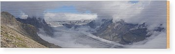 Wood Print featuring the photograph Skaftafell Panorama by Rudi Prott