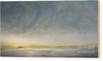 Skaket - Waiting On The Storm Wood Print by Jacqui Hawk