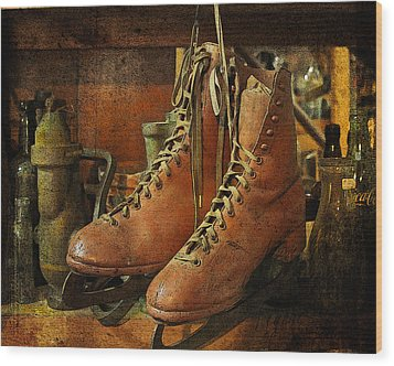 Wood Print featuring the photograph Skates by Karen Lynch
