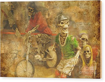 Skeleton Crew Wood Print