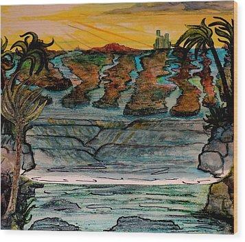Sketch Of 8 Wood Print by Richard  Hubal